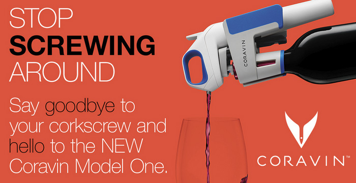 Coravin Model One Stop Screwing Around