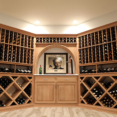 A Glass-Enclosed Dream Cellar For A Prized Collection.