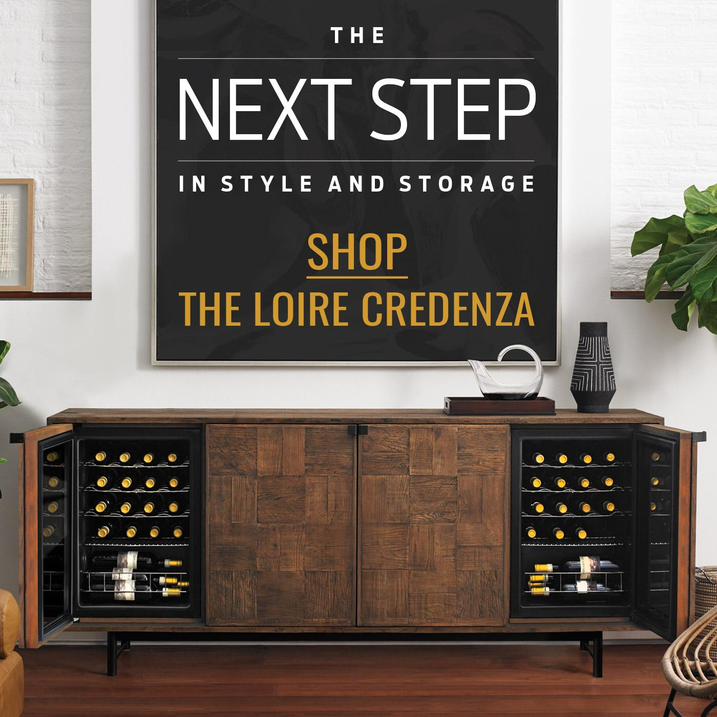 The Next Step in Style and Storage Shop the Loire Credenza