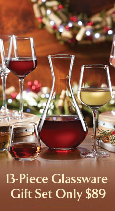 13-Piece Glassware Gift Set Only $89