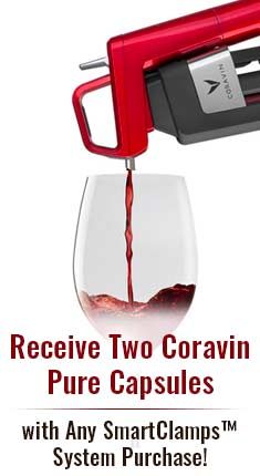 Receive Two Free Coravin Pure Capsules with Any SmartClamps System Purchase!