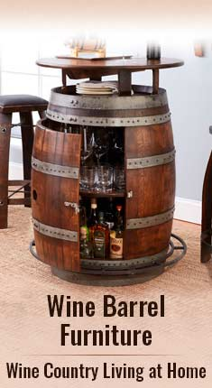 Wine Barrel Furniture - Wine Country Living at Home